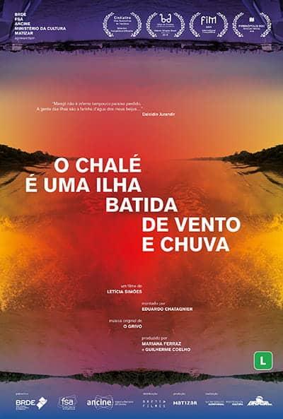Poster do filme O Chalé É Uma Ilha Batida de Vento e Chuva (2019)