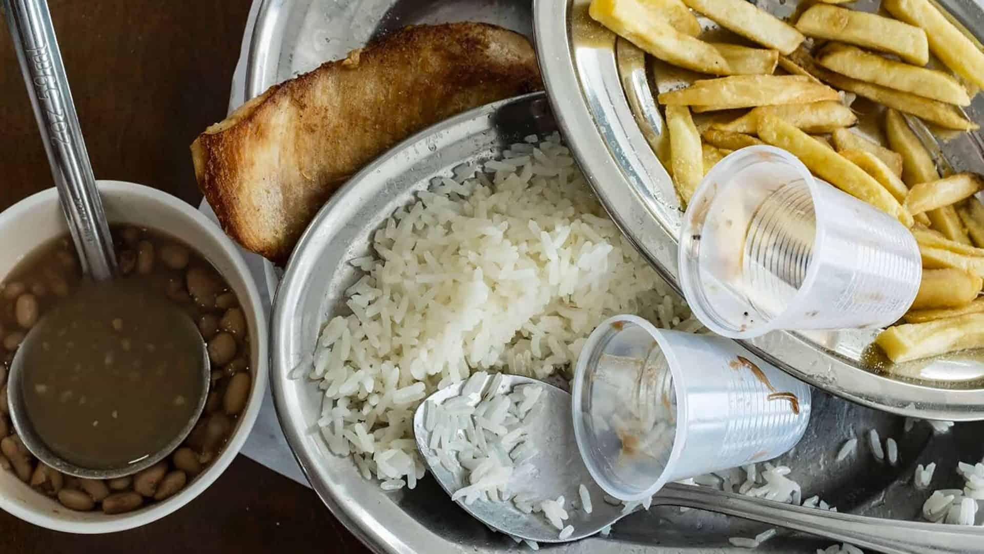 Desperdício de comida na mesa do brasileiro