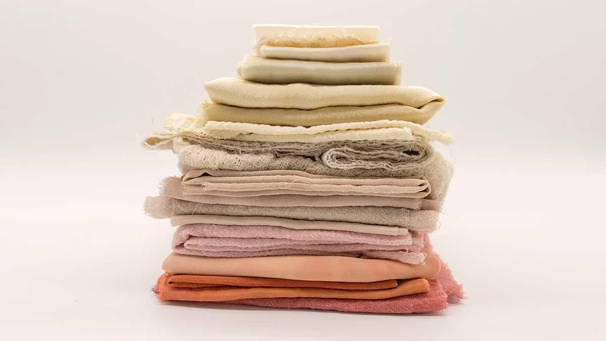 tecidos de fibras naturais, dobrados
