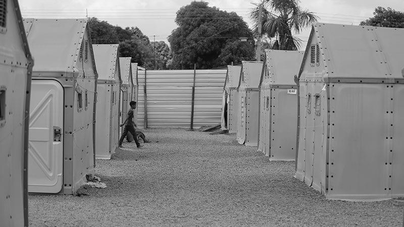 Alojamento para refugiados em Roraima - FFHI