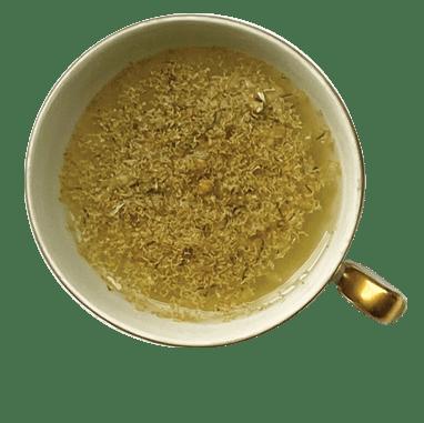 xícara de chá de camomila