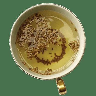 xícara de chá de erva-doce
