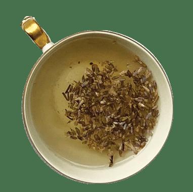xícara de chá de lavanda