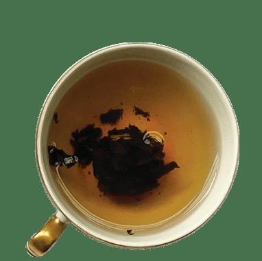 xícara de chá de puer