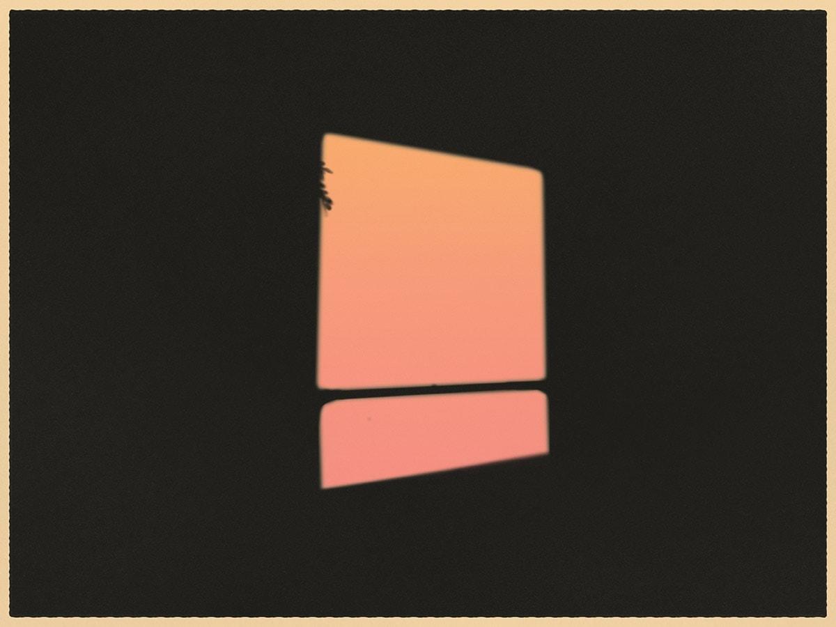 Ilustração de janela sem ninguém por perto