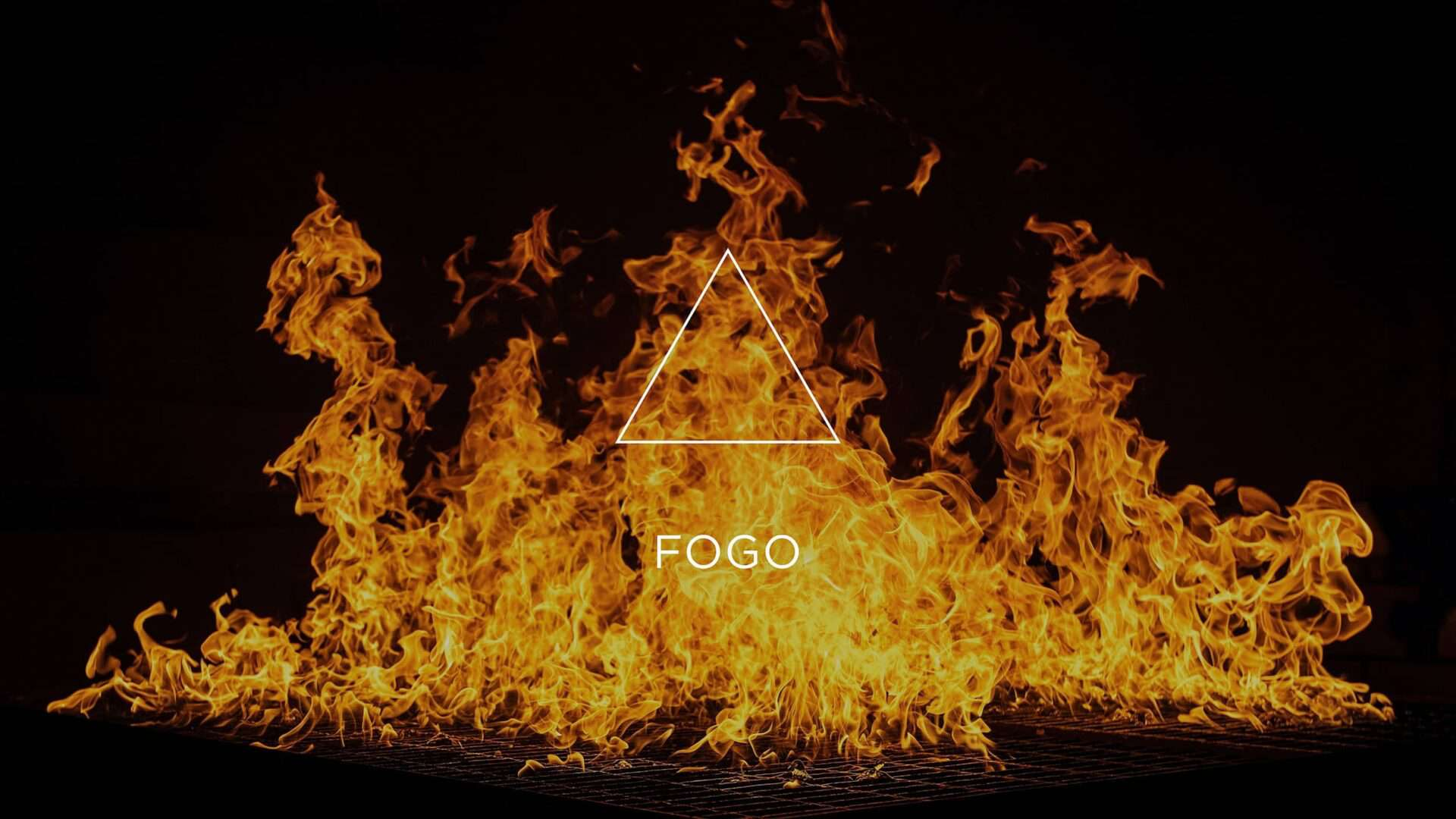 Labaredas de fogo e o símbolo do elemento Fogo