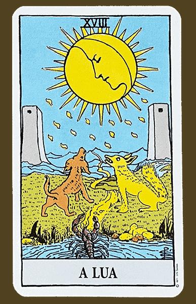 Tarot Rider Waite, carta A Lua