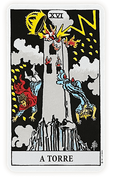 Tarot Rider Waite, carta A Torre